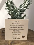 Personalised Flower / Plant Pot In Memory Of Loved One SON DAUGHTER Or ANY NAME - 254324624826